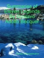 Summaries of Eleven Legends By Gustavo Adolfo Bécquer