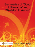"Summaries of ""Song of Hiawatha"" and ""Skeleton In Armor"""
