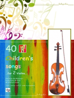 40 Children's Songs for Two Violins
