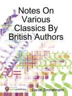 Notes On Various Classics By British Authors