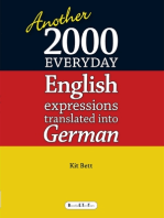 Another 2000 Everyday English Expressions Translated Into German