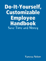 Do-It-Yourself, Customizable Employee Handbook