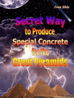Secret Way to Produce Special Concrete for the Great Pyramids
