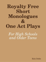 Royalty Free Short Monologues & One Act Plays
