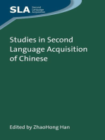 Studies in Second Language Acquisition of Chinese