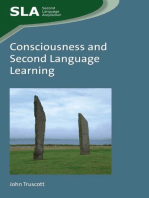 Consciousness and Second Language Learning