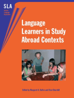 Language Learners in Study Abroad Contexts