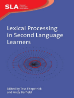Lexical Processing in Second Language Learners