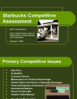 Starbucks Competitive Assessment