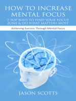 How To Increase Mental Focus