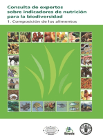 Consulta de expertos sobre indicadores de nutrición para la biodiversidad: 1. Composicion de los alimentos