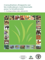 Consultation d'experts sur les indicateurs nutritionnels pour la biodiversité