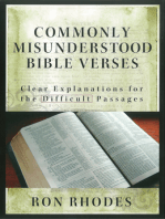 Commonly Misunderstood Bible Verses