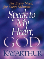 Speak to My Heart, God