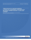 """""""PRICE RIVALRY IN AIRLINE MARKETS:  A STUDY OF A SUCCESSFUL STRATEGY OF A NETWORK CARRIER"""