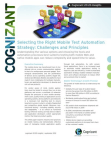 Study on Right Mobile Test Automation Strategy