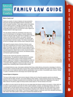 Family Law Guide (Speedy Study Guide)