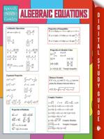 Algebraic Equations (Speedy Study Guides)