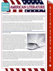 American Literature (Speedy Study Guides)