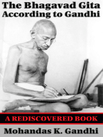 The Bhagavad Gita According to Gandhi (Rediscovered Books)
