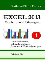 Excel 2013. Probleme und Lösungen. Band 1