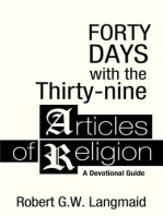 Forty Days with the Thirty-nine Articles of Religion
