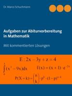 Aufgaben zur Abiturvorbereitung in Mathematik