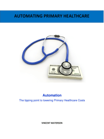 Automating Primary Healthcare