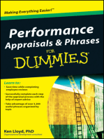 Performance Appraisals and Phrases For Dummies