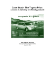 Case Study: The Toyota Prius Lessons in marketing eco-friendly products