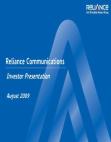 Reliance Communications Investor Presentation