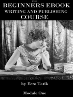 The Beginners eBook Writing and Publishing Course