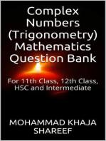 Complex Numbers (Trigonometry) Mathematics Question Bank