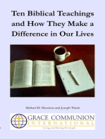 Ten Biblical Teachings and How They Make a Difference in Our Lives