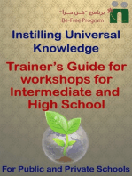 Trainer's Guide for Workshops for Intermediate and High School
