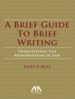 A Brief Guide to Brief Writing