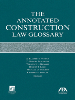 The Annotated Construction Law Glossary