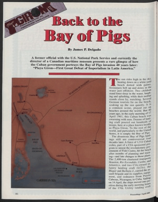 back to the bay of pigs u s naval institute