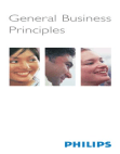 Study on General Business Principles of Philips