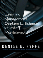 Learning Management System Efficiency versus Staff Proficiency