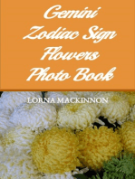 Gemini Zodiac Sign Flowers Photo Book