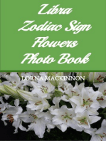 Libra Zodiac Sign Flowers Photo Book