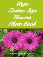Virgo Zodiac Sign Flowers Photo Book