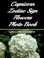 Capricorn Zodiac Sign Flowers Photo Book