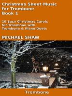 Christmas Sheet Music for Trombone Book 1