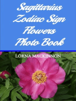 Sagittarius Zodiac Sign Flowers Photo Book