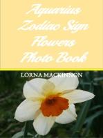 Aquarius Zodiac Sign Flowers Photo Book