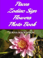 Pisces Zodiac Sign Flowers Photo Book