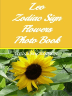 Leo Zodiac Sign Flowers Photo Book