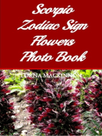 Scorpio Zodiac Sign Flowers Photo Book